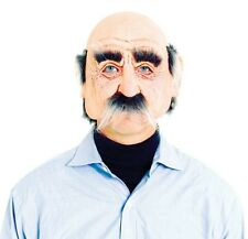 Pensioner Half Mask Geezer Grandpa Old Man Mask Adult Costume Accessory - New