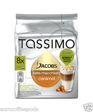 Tassimo Jacobs Latte Caramel Macchiato Coffee 5 Pack 80 T-Disc 40 Servings