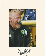 A 10 x 8 inch mount personally signed by Gary Holt when at Norwich City.