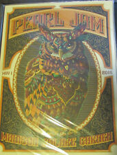 Pearl Jam New York MSG Poster Bioworkz Owl