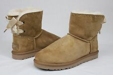 UGG Dixie Flora Chestnut Suede Wool Boots Size 9 US CUTE!