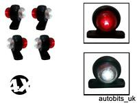 4 X MINI SIDE RUBBER LED MARKER LIGHTS TRAILER TRUCK LORRY CAMPER 12 V 12VOLT