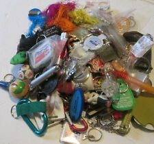 HUGE Lot of 100 Collectible KEYRING key chain keychains Advertising novelty +