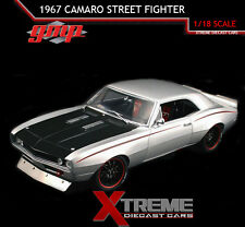 GMP 18806 1:18 1967 CHEVROLET CAMARO STREET FIGHTER SILVER