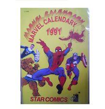 CALENDARIO Supereroi MARVEL 1991 Uomo Ragno Fantastici Quattro Star Comics [C71]