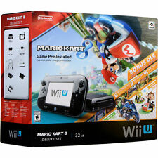 Nintendo Wii U Console Bundle - Mario Kart 8 Deluxe Set (2+ available)