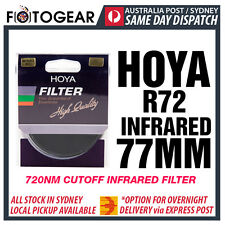 Genuine HOYA R72 Infrared Camera Filter 720nm Bandwidth Cutoff IR 77mm