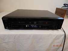 Sony RCD-W500C CD Changer works Fine Cd Recorder 5 disc changer