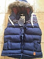 NEW WITH TAGS!  WOMANS TOKYO LAUNDRY ELCHO NAVY GILET SIZE L