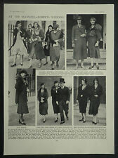 Angela Susan Roberts Somerset Arthur Maxwell Wedding Guests 1930 Photo Article