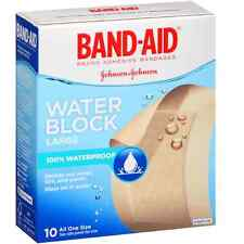 BAND-AID Adhesive Bandages, Water Block Large 10 Each (Pack of 9)
