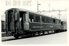 6F999J RP 1960s? RHATIAN RAILWAY RESTAURANT CAR  SWITZERLAND 1 METER GAUGE