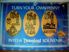 DISNEY 60th  PRESSED COPPER PENNY 'RETIRED' 3 PIECE DECADE 65-74 SET FREE SHIP