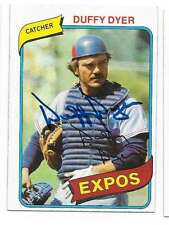 DUFFY DYER 1980 TOPPS AUTOGRAPHED SIGNED # 446 EXPOS