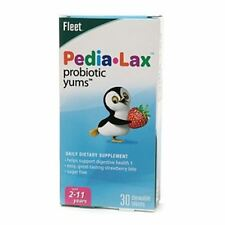 Fleet Pedia-Lax Probiotic Yums Chewable Tablets Strawberry 30 Tablets