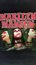 "Marilyn Manson blacklight/flocked poster: ""3 Faces"""