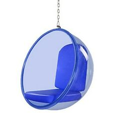 Fine Mod Imports FMI10152-BLUE Bubble Hanging Chair Blue Acrylic Blue NEW