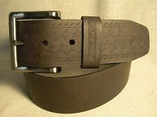 Dickies Mens Dark Brown Synthetic Leather Belt Size 36