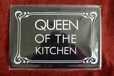 Queen of The Kitchen Metal Sign Painted Poster Comics Book Superhero Wall Decor