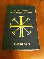 Homilies For The Christian People Cycles A,B,C ABC Religious Paperback Book SC