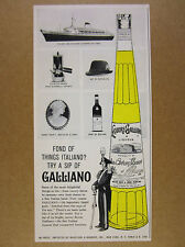 1961 Galliano Liqueur 'Fond of things Italiano?' bottle art vintage print Ad