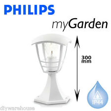 PHILIPS MASSIVE MY GARDEN CREEK PILLAR TOP LIGHT WHITE PEDESTAL MODERN CURVED