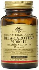 Solgar Oceanic Beta Carotene 25,000 IU Softgels, 60 Count