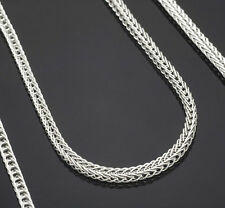 "1PCS 18 inch 925 Sterling silver plating ""FOX TAIL"" Chain Necklaces"