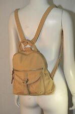 Fossil Bag Backpack Purse Khaki Cotton Canvas Designer Fashion Boho Hip Trendy