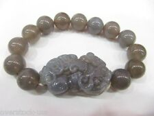 Best GIFT Chinese Brown Agate Beads Bracelet / Pixiu Charm