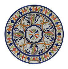 Moroccan Ceramic Dinner Plate Salad Pasta Bowl Spanish Mexican Wall Hanging Dish