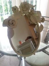 BOMBAY DUCK Pretty Bird Dressing Table Mirror with Corsage Flowers in Cream