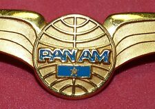 Vintage Pan Am Airlines Clipper Pilot Wings Badge