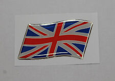 57mm WAVING UNION JACK Sticker/Decal - RED, WHITE & BLUE WITH A DOMED GEL FINISH