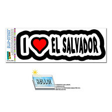 I Love Heart El Salvador - SLAP-STICKZ™ Car Window Locker Bumper Sticker