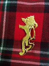 Herren Schottisch Löwe Ungezügelt Gold Kilt Pin 10.2cm/Hochland 10.2cm