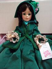 """Vintage 21"""" Madame Alexander Scarlett Green Velvet Dress - #2240 - Mint in Box!"""