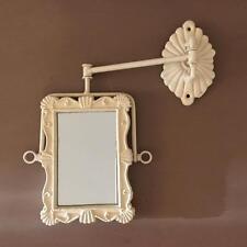 Francese Shabby Chic Specchio parete girevole Braccio Girevole Stile Vintage Antico bagno