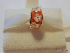 NEW! AUTHENTIC PANDORA CHARM TROPICAL FLOWER MURANO #791624