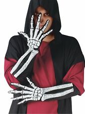 ADULT ELBOW SKELETON 3D BONES GLOVES COSTUME DRESS ACCESSORY FW90195