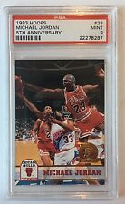 1993-94 Hoops  Fifth Anniversary Gold #28 Michael Jordan PSA 9