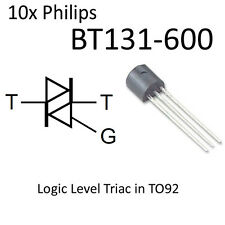 10pcs BT131-600 600V 1A Triac Logic Level TO92 BT131