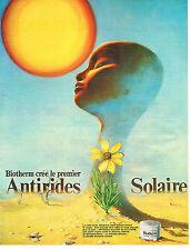 PUBLICITE  1973   BIOTHERM    cosmétiques anti-rides solaire