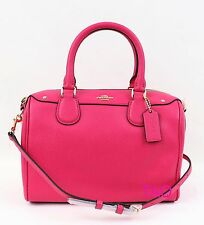 Coach Crossgrain Mini Bennett Satchel Crossbody Bag Handbag Pink Ruby F36624 New