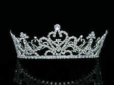 Bridal Wedding Pageant Rhinestone Crystal Full Crown Tiara 6192