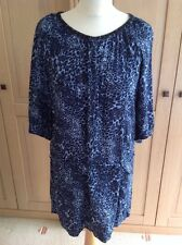 FANTASTIC MAISON SCOTCH LONG SEMI FITTED BLUE SPECKLED TOP UK SIZE S (10) WORN