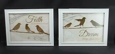 2 Faith About Believing Dream follow ur Bliss Bird Picture Frame Wall Art Sign