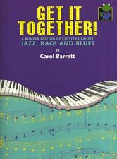 Carol Barratt Get It Together! Learn to Play Rags Blues Pop Piano Music Book