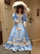 Gorgeous Porcelain Doll 35'' by Thelma Resch - Blue Gown