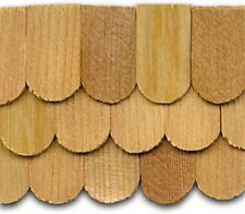 "Dollhouse Roofing Hand Split Cedar Fishscale Shingles 300 Pcs 1"" Scale #CLA70257"